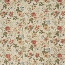 Tapestry Fabrics Upholstery Red Green And Yellow Floral Tapestry Upholstery Fabric By The