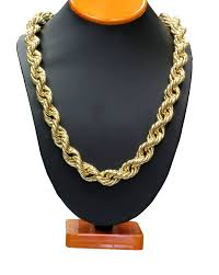 gold chain necklace rope images Gold tone 36 quot 16mm run dmc hip hop dookie rope chain high quality jpg