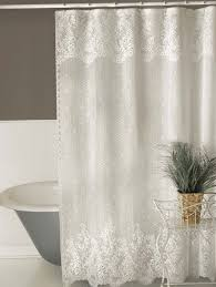 lace shower curtains sheer home design ideas