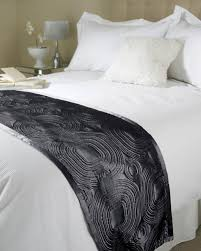 embossed satin bed runner black free uk delivery terrys fabrics