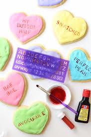 conversation heart how to make conversation heart cookies the butter half