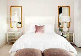 Headboard With Mirror by White Channel Tufted Headboard With Pink Pillow Contemporary