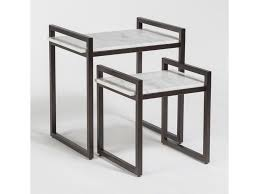 marble top nesting tables alder tweed santa barbara nesting tables with marble tops zak s