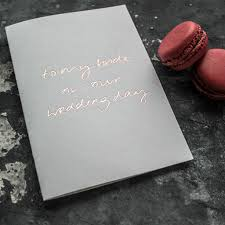 To My Bride On Our Wedding Day Card To My Bride On Our Wedding Day U0027 Foil Card By Text From A Friend