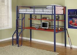 loft bed with desk and storage flower motif bedding cheap bunk