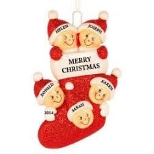 family of 5 family collection personalized ornaments
