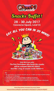 Are You Can Eat Buffet by Okashi World Snacks Buffet Eat All You Can Food Promotion 2u
