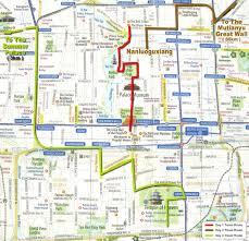 Beijing Map City Maps Stadskartor Och Turistkartor China Japan Etc Travel