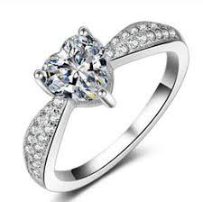 Heart Shaped Wedding Rings by Heart Shaped Rings White Gold Online White Gold Heart Shaped