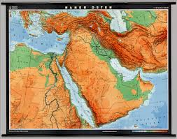 Political Map Of Middle East by Near East Physical Political David Rumsey Historical Map