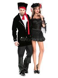 Men Black Halloween Costume Couples Costumes 2017 Black Pirate Couples Halloween Costume