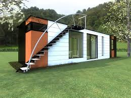 concept for an interesting and colorful container home