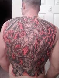 gates of hell demons on back tattooshunt com