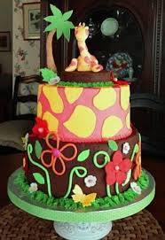 baby shower cake with jungle theme cakecentral com