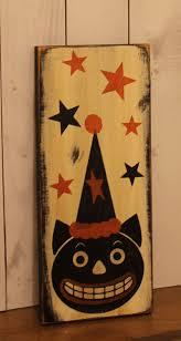 black cat sign vintage style halloween sign vintage black