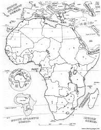africa map coloring pages printable