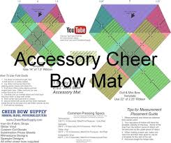 bow supplies diy cheer bow softball cheer bow template mat
