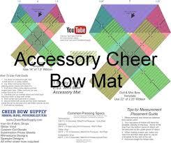 bow supplies cheer bow softball cheer bow template mat