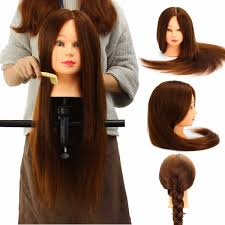 90 24 inch real human mannequin head salon hairdressing
