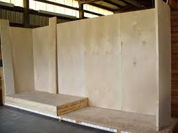 diy trade show booth made from sing sandwich panels from