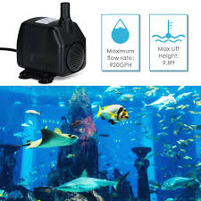 High Suction Lift Water Pump Amazon Com Homasy 920gph Submersible Water Pump With 5 9ft 1 8m