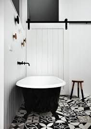 inspired ideas for of black and white bathroom tile home devotee