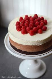 i heart baking two triple chocolate mousse cakes with raspberries