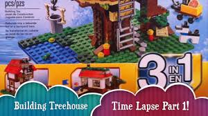 time lapse lego treehouse creator build 3 different houses from 1