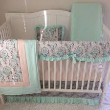 Grey And Green Crib Bedding Furniture Crib Bedding Sets Baby Cribs Surprising Mint