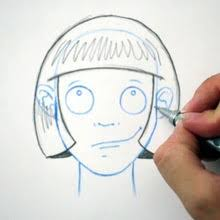 drawing of bob hair how to draw drawing hair the short bob hellokids com