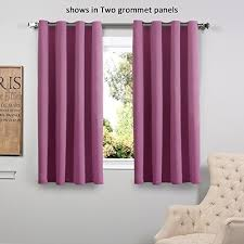 Two Different Colored Curtains Rose Color Curtains Amazon Com