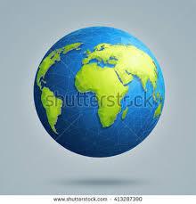 global map earth futuristic vector menu system