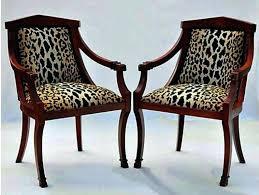 Zebra Print Accent Chair Animal Print Armchair Uk Leopard Chair Ottoman Brown Leg Accent