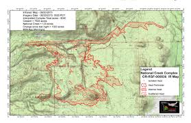 Wildfire Map Oregon by National Creek Complex Fire Page 3