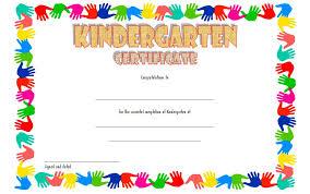 kindergarten certificates kindergarten graduation certificate templates the best template