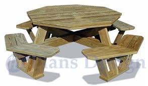 Traditional Octagon Picnic Table Plans Pattern How To Build A by Traditional Octagon Picnic Table Woodworking Plans Pattern