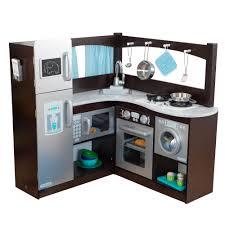 kidkraft grand gourmet uptown espresso corner wood play kitchen
