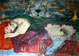 panther dream painting amy jayne price artist illustrator