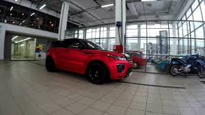 land rover chrome range rover evoque red matte chrome youtube