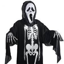 ghost clothing 2017 ghost skeleton costume skull gloves mask