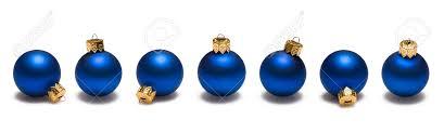 blue ornaments border on white background stock photo