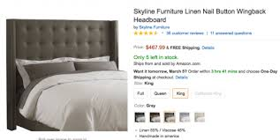 skyline furniture velvet king tufted wingback bed light gray my tufted bed a review of the skyline linen nail button wingback