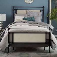 rhodes upholstered metal bed west elm
