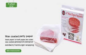 where to buy patty paper china wax paper manufacturer supplies waterproof hamburger patty