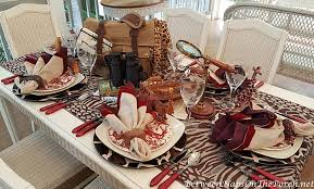 themed tablescapes safari themed table setting