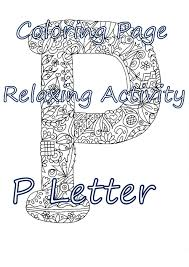 coloring letter p download coloring page hand drawn