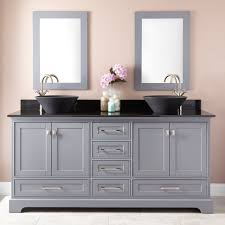 bathrooms design wood double vanity inch top gray sink bathroom