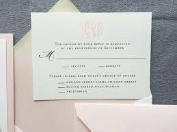 monogram wedding invitations classic monogram wedding invitation in blush and gold cardinal