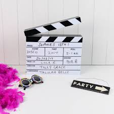 clapperboard lightbox by home u0026 glory notonthehighstreet com
