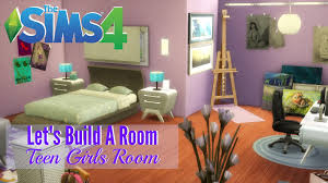 Girls Room The Sims 4 Let U0027s Build A Room Teen Girls Room Youtube